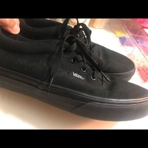 Black lace up vans only worn a few times